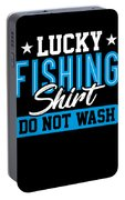Lucky Fishing Shirt Do Not Wash Portable Battery Charger