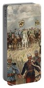 Ludwig Koch, Franz Josef I And Wilhelm II With Military Commanders During Wwi Portable Battery Charger
