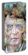 Ludwig Wittgenstein - Watercolor Portrait.2 Portable Battery Charger