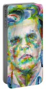 Ludwig Wittgenstein - Watercolor Portrait.3 Portable Battery Charger