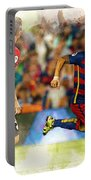 Luis Suarez Takes The Ball Past Athletic Bilbao's Eneko Boveda A Portable Battery Charger