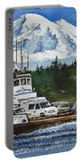 Lummi Island Ferry And Mt Baker Portable Battery Charger