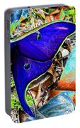 Luna Moth False Color Work One Portable Battery Charger