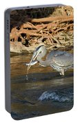 Lunch On The Neuse River Portable Battery Charger by George Randy Bass