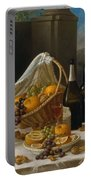 Luncheon Still Life, At And By John F. Francis Portable Battery Charger