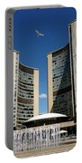 Lunchtime At Nathan Philips Square Toronto City Hall Portable Battery Charger