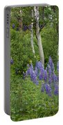 Lupine And Aspens Portable Battery Charger