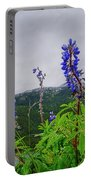 Lupine And Mountains Portable Battery Charger