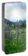 Lupine In The Alpine Portable Battery Charger