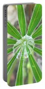 Lupine Leaf And Raindrop Portable Battery Charger