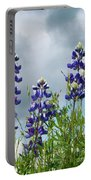 Lupines Against The Sky Portable Battery Charger