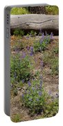 Lupines And A Log Portable Battery Charger