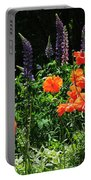 Lupines And Poppies Portable Battery Charger