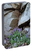Lupines And Rock Face Portable Battery Charger