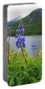 Lupines And Water Portable Battery Charger