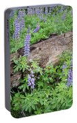 Lupines And Windfall Portable Battery Charger