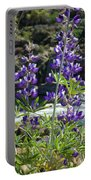 Lupines At The River Portable Battery Charger