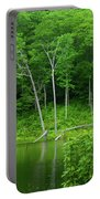 Lush Green Pond Portable Battery Charger