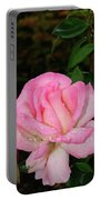 Lustrous Pink Rose Portable Battery Charger