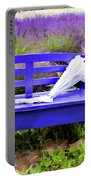 Luvin Lavender Farm Bench Portable Battery Charger