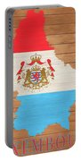 Luxembourg Rustic Map On Wood Portable Battery Charger