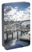 Luxury Boats Moored At Naples Island, Long Beach, Ca Portable Battery Charger