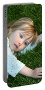 Lying In The Grass Portable Battery Charger
