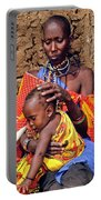 Maasai Grandmother And Child Portable Battery Charger