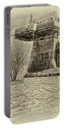 Mabel's House As Antique Print Portable Battery Charger