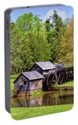 Mabry Mill In The Springtime On The Blue Ridge Parkway  Portable Battery Charger by Kerri Farley
