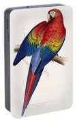 Macaw By_edward_lear Portable Battery Charger