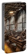 Machinist - A Room Full Of Lathes  Portable Battery Charger by Mike Savad