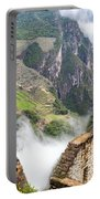 Machu Picchu And Fog Portable Battery Charger