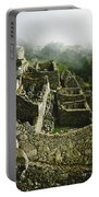 Machu Picchu In The Fog Portable Battery Charger