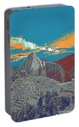 Machu Picchu Travel Poster Portable Battery Charger