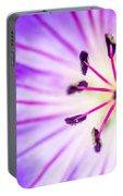 Macro Closeup Of A Purple Flower Stamen Portable Battery Charger