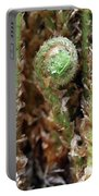 Macro Fern Sprout Portable Battery Charger