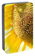 Macro Photography Of Sunflower Portable Battery Charger