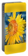 Macro Sunflower Art Portable Battery Charger