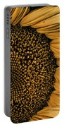 Macro Sunflower Portable Battery Charger
