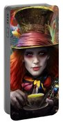 Mad As A Hatter Portable Battery Charger by Omri Koresh