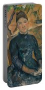 Madame Cezanne In The Conservatory Portable Battery Charger