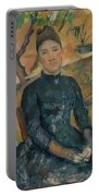Madame Czanne Hortense Fiquet 18501922 In The Conservatory Portable Battery Charger