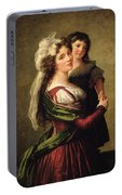 Madame Rousseau And Her Daughter Portable Battery Charger