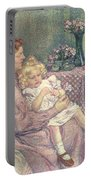 Madame Van De Velde And Her Children Portable Battery Charger by Theo van Rysselberghe
