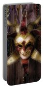 Madi Gras Mask And Beads Portable Battery Charger