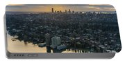Madison Park And The Seattle Skyline Portable Battery Charger