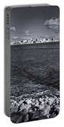 Madison Skyline - Black And White Portable Battery Charger