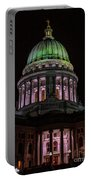Madison Wi At Night Portable Battery Charger