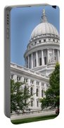 Madison Wi State Capitol Portable Battery Charger by Anita Burgermeister